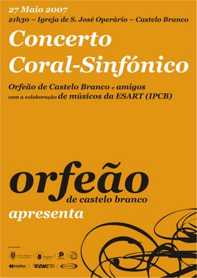 cartaz do concerto coral sinfónico